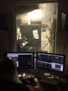 Control Room looking into Studio Week 1