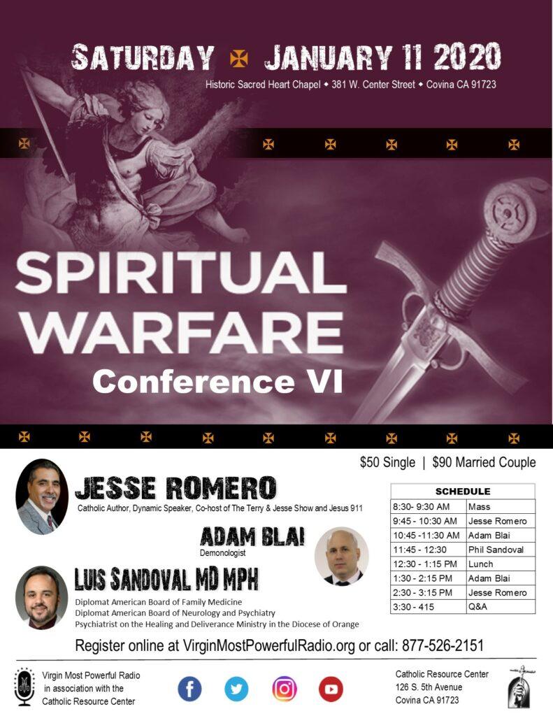 Spiritual Warfare Conference – Virgin Most Powerful Radio